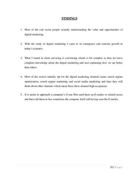 study digital marketing project report on quot a study of digital marketing services quot