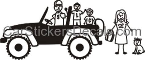 jeep family stickers jeep family sticker decal car stickers decals
