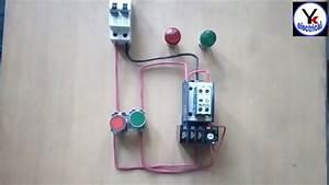 Dol Starter Control Wiring  U092e U0947 U0902 On Off Indicator Wiring