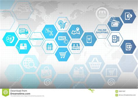 shopping  commerce concept background stock