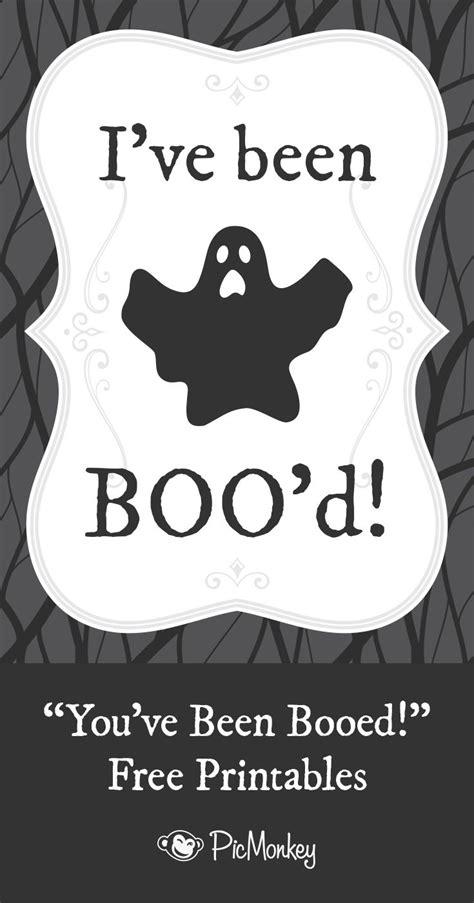 You've Been Booed Printables  Halloween Pinterest