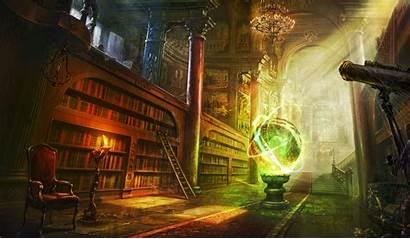 Fantasy Library Desktop Wallpapers Backgrounds Mobile