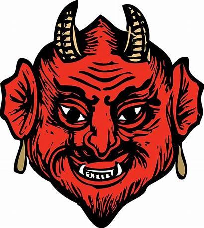 Head Devil Face Satan Teeth Horns Vector