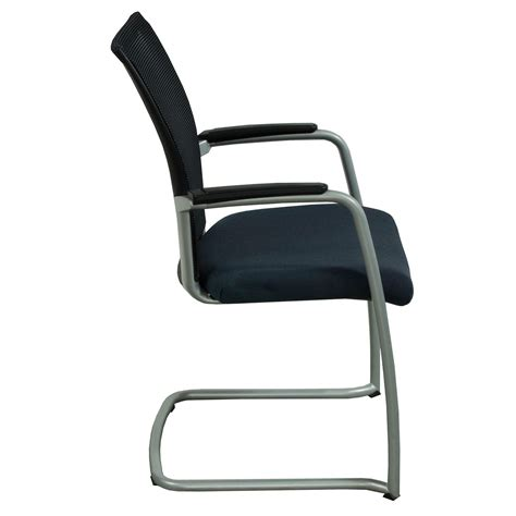 haworth x99 used stackable mesh back guest chair black