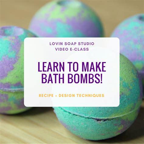 learn   bath bombs video eclass lovin soap studio