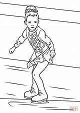 Skating Coloring Ice Skater Pages Skate Drawing Skaters Figure Printable Roller Supercoloring Games Winter Olympic Crafts Preschool Pyeongchang Sheets Olympics sketch template