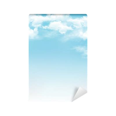 blue sky  clouds vector background wall mural
