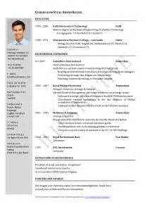 curriculum vitae template word cv in word