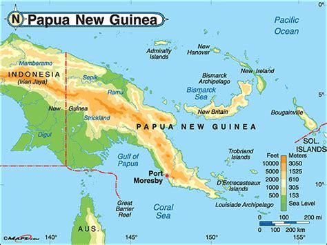 map  papua  guinea  surrounding countries