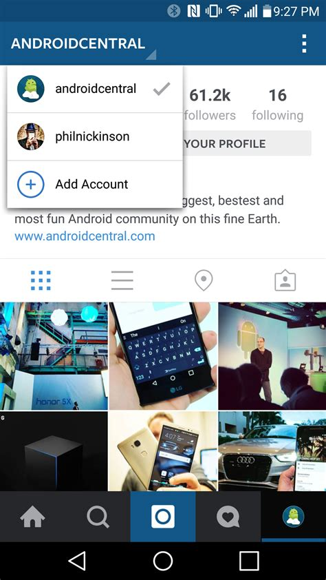 instagram app android how to use accounts in instagram for android