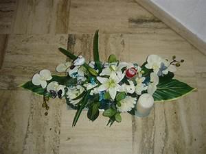 Art Floral Centre De Table Noel : cr ation centre de table en blanc et bleu pour noel cr ations art floral de mait na n 50799 ~ Melissatoandfro.com Idées de Décoration