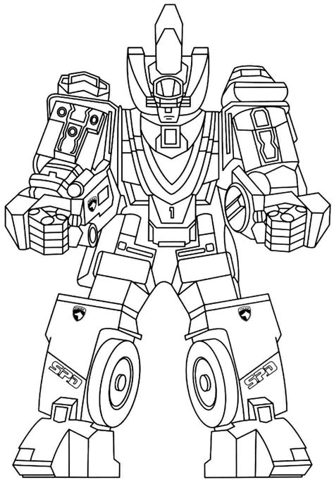 print full size image power rangers colouring pages