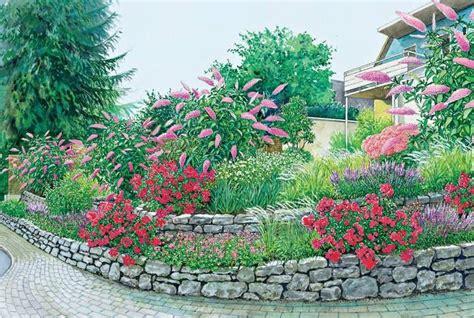 Garten Kostengünstig Gestalten by Hangbeet Mit Grauwackemauern Garten Garten Am Hang