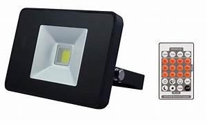 Projecteur Led Detecteur : projecteur led ultraplat avec detecteur et telecommande ~ Carolinahurricanesstore.com Idées de Décoration