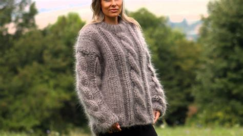 Hand Knitted Mohair Sweater By Extravagantza