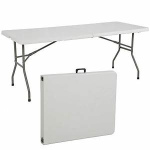 Folding Table 6' Portable Plastic Indoor Outdoor Picnic
