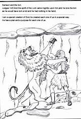 Samson Bible Coloring Pages Sunday Lesson Lion Crafts Stories Children Preschool Lessons Licorice Printables Craft Activities Strong Judges Template Bites sketch template