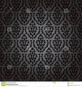 Papier Peint Noir Et Doré : noir baroque de papier peint sans joint photographie stock image 22212192 ~ Melissatoandfro.com Idées de Décoration