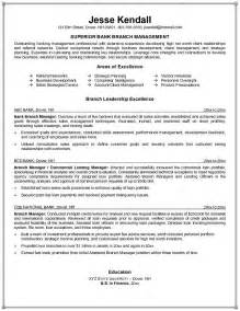 banking manager resume objective exles bank branch manager resume