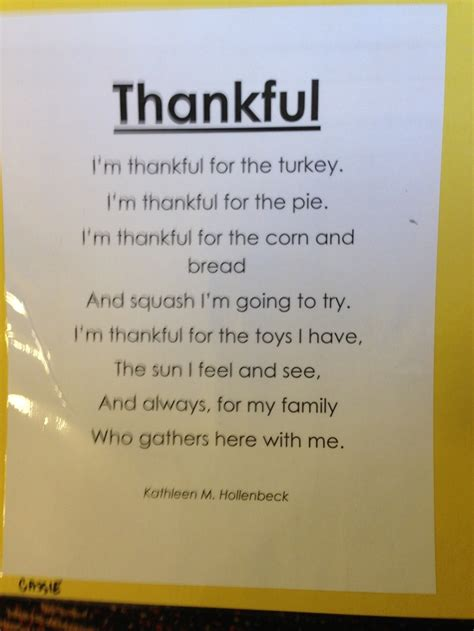thankful poem thankful poems kids poems thanksgiving poems