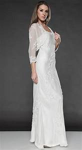 Destination wedding dresses scala long jacket dress 877 for Long jacket dresses for weddings