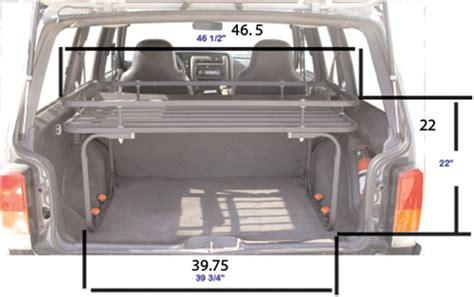 jeep xj cargo area dimensions