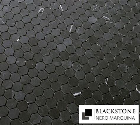 nero marquina black marble 1x1 quot hexagon honed mosaic
