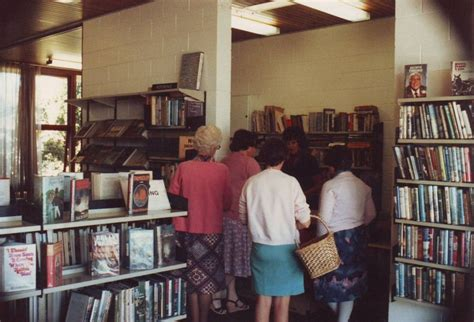 Another view of borrowers at issues desk, Shannon Library ...