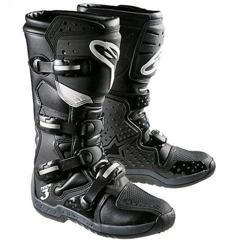 alpinestar tech 3 motocross cross enduro motorcycle boots alpinestar tech 3 black