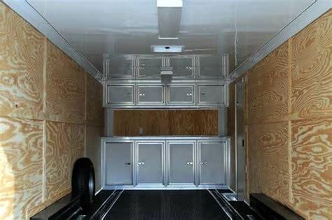enclosed car hauler cargo trailer loaded