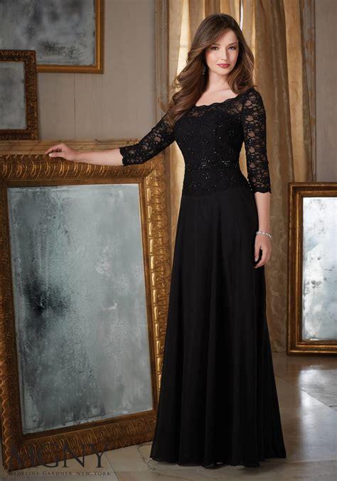 lace  chiffon evening dress style  morilee