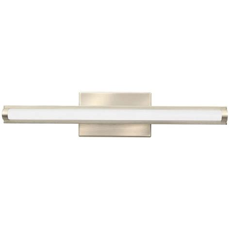 Led Vanity Lights by Lithonia Lighting Contemporary Arrow 2 Light Brushed