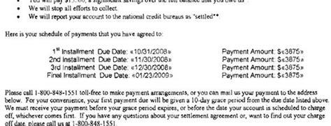 chase sample debt settlement offer letter leave debt