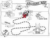 Treasure Map Pirate Coloring Printable Getcoloringpages sketch template