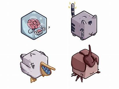 Cube Icons Weird Animals Icon Character Funny