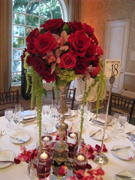 Red Rose Wedding Centerpieces Ideas  Wedding And Bridal