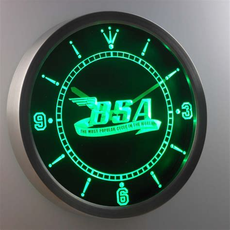 bsa led neon wall clock safespecial