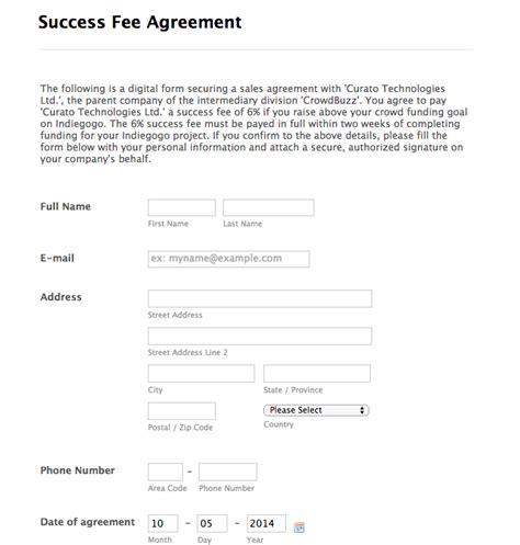 Success Fee Agreement Template by Success Fee Agreement Template Kidscareer Info