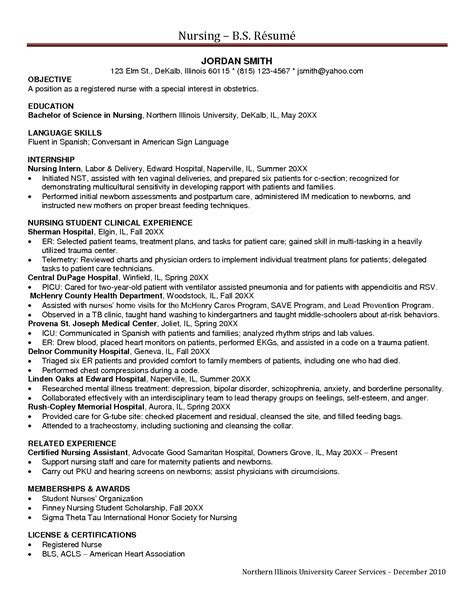 Entry Level Nursing Resume Objective by Entry Level Nursing Resume Sales Nursing Lewesmr