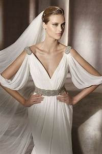 30 flowing grecian styled wedding dresses happyweddcom With greek goddess wedding dress