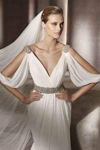 30 flowing grecian styled wedding dresses happyweddcom With greek goddess wedding dress