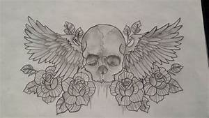 Drawing Of A Skull With Wings | www.imgkid.com - The Image ...