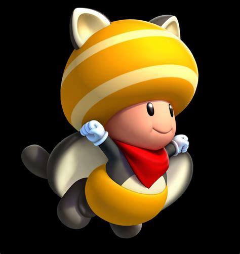 yellow toad  flying squirrel suit art  super mario