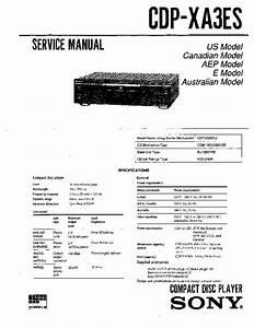 Sony Cdp-xa3es Service Manual