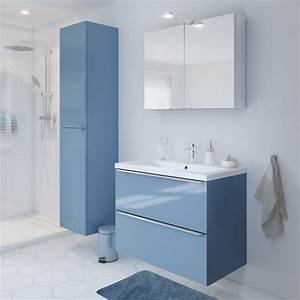 Bleu De Travail Castorama : meuble de sdb susp bleu 80 cm imandra vasque nira pas ~ Dailycaller-alerts.com Idées de Décoration