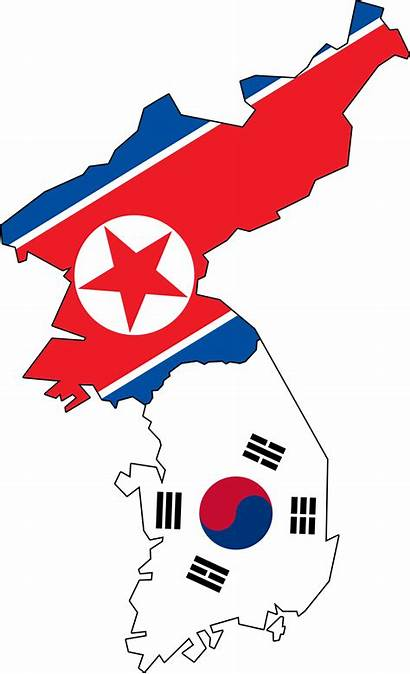 Flag Korea North Map South Flags Korean