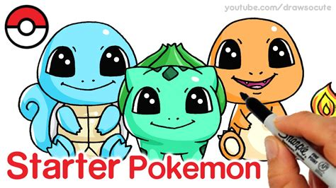 How To Draw Squirtle, Bulbasaur And Charmander Step By
