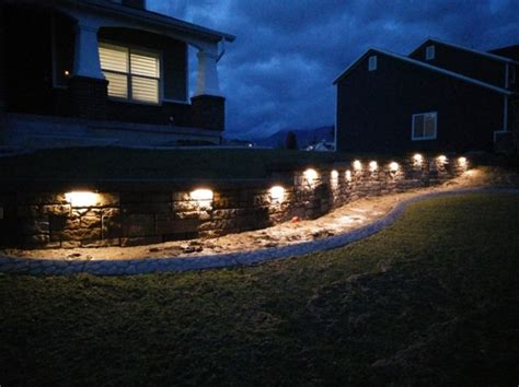 led retaining wall lights led hardscape light 6 quot deck step and landscape