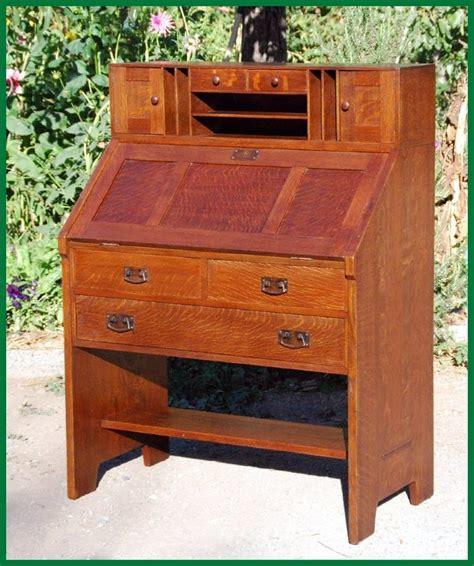 drop front desk plans free and original l j g stickley drop front desk circa