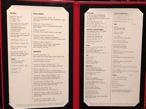 menu picture  gordon ramsay steak las vegas tripadvisor